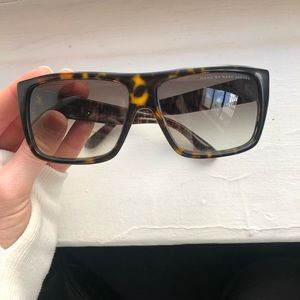 Marc by Marc Jacobs black/tor flat top sunglasses